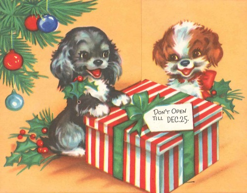 Christmas Puppies Card for web